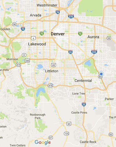 Denver map Foothills Heating & Cooling Denver